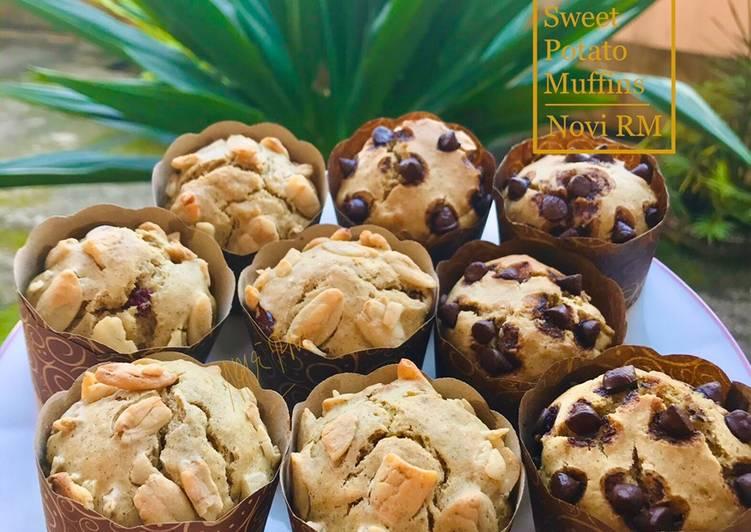 Resep Sweet Potato Muffins (No butter | No mixer)