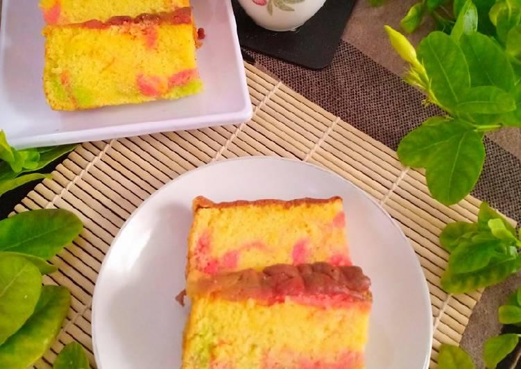 Resep Marmer Cake Red Flower