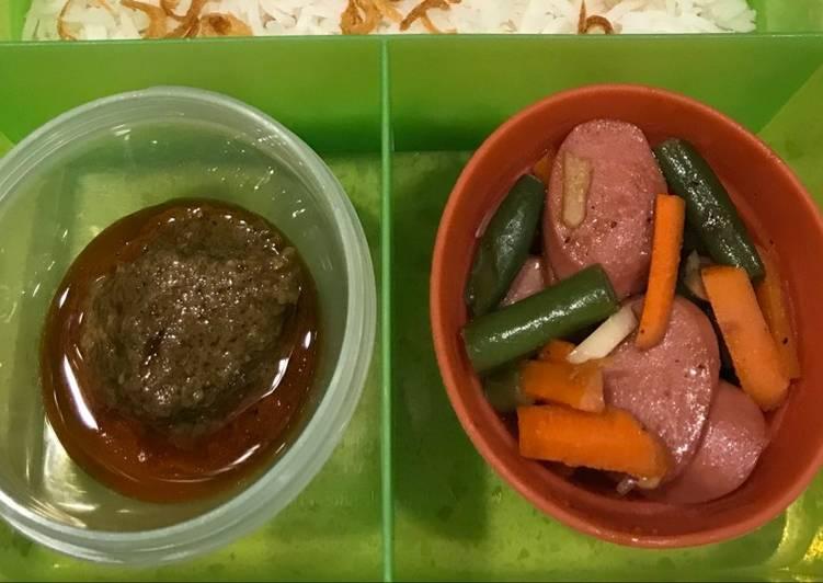 Resep Sausage with Vegetable Bekal Anak