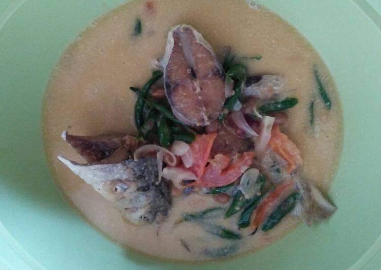 Resep Ikan kuah santan cabe ijo