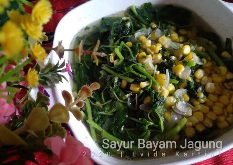 Resep Sayur Bayam Jagung