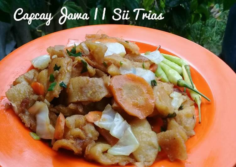 Resep Capcay jawa (capcay kering)