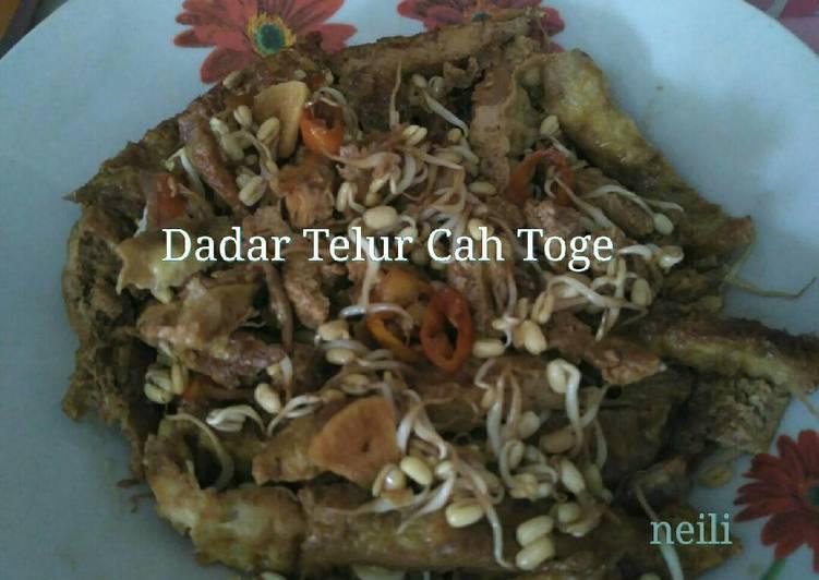 Resep Dadar Telur Cah Toge