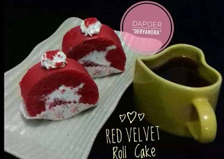 Resep Red Velvet Roll Cake