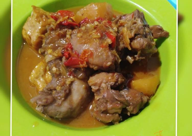 Resep Ayam tahu kentang pedas manis