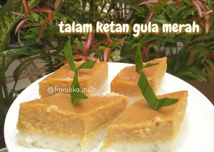 Resep Talam ketan gula merah
