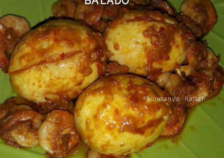 Resep Udang & telur balado