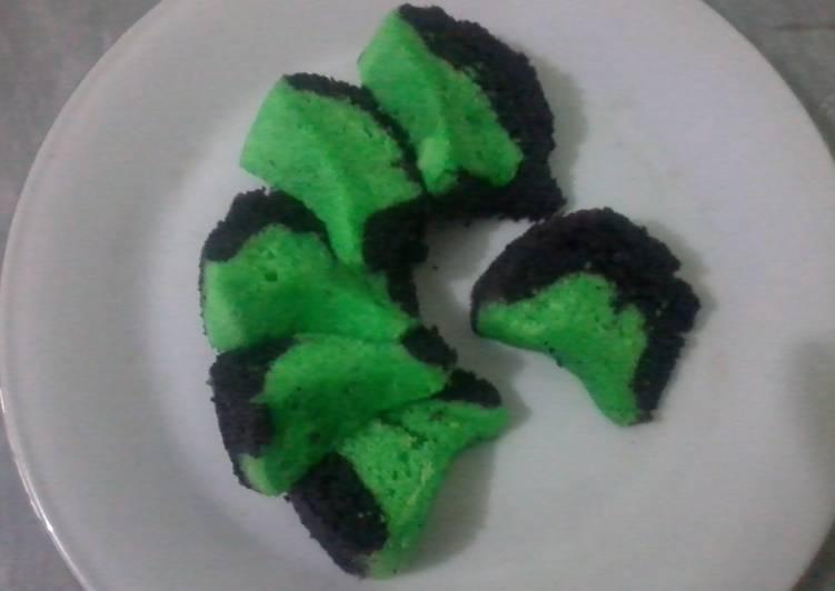 Resep Cake hijau timpa hitam