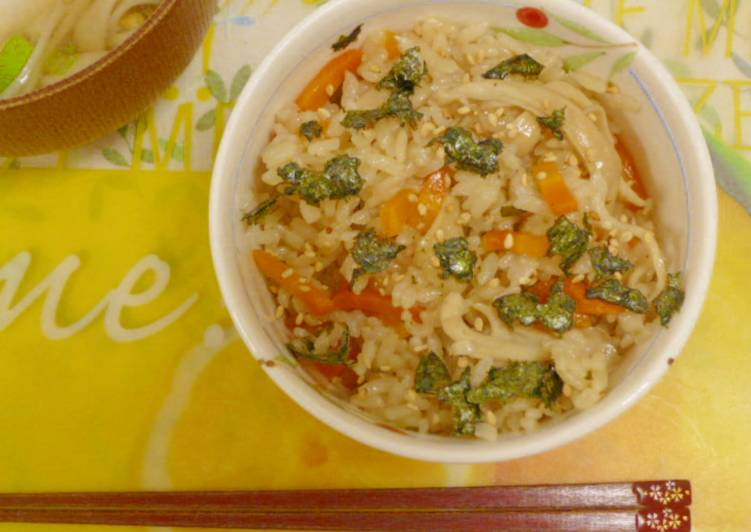 Resep Nasi Tim Jamur ala Jepang (Takikomi Gohan)