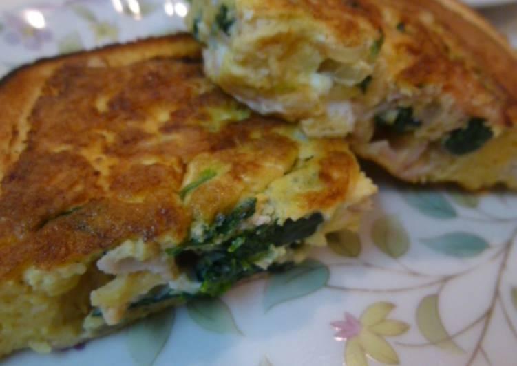 Resep Roti Quiche panggang mudah dengan fried pan