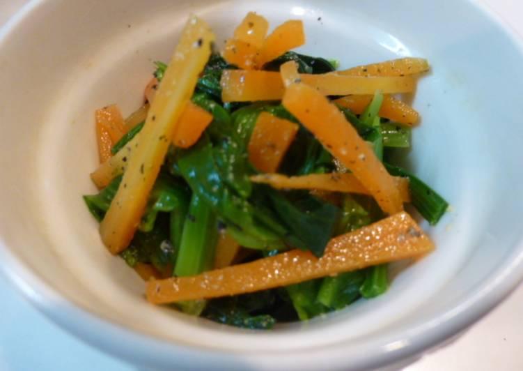 Resep Salad horenso dan wortel