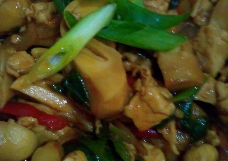 Resep Ayam fillet jamur asam manis praktis