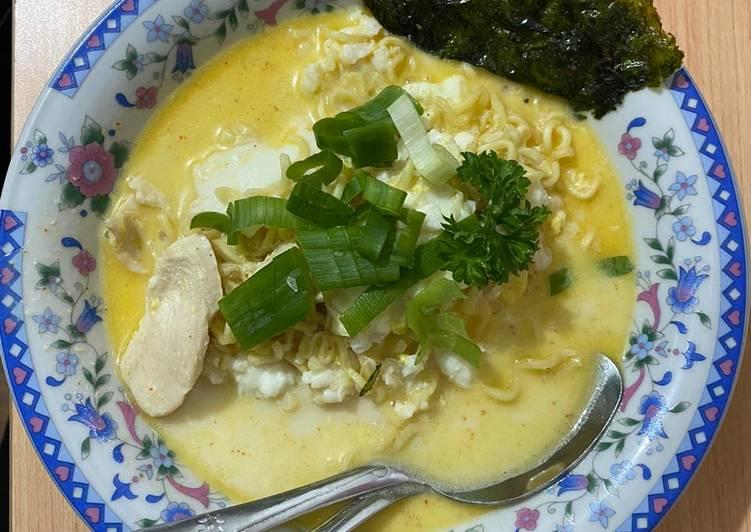 Resep Indomie Ramen Ayam dan Telur
