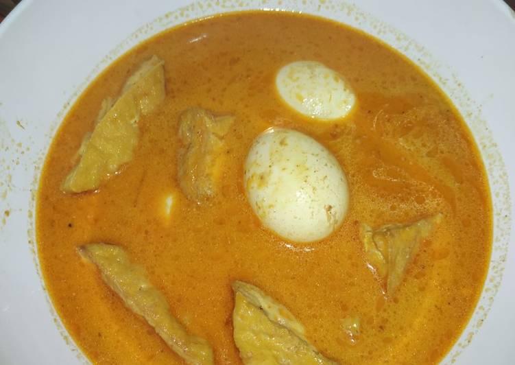 Resep Kari Tahu Telur
