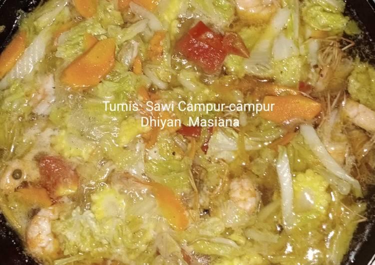 Resep Tumis Sawi Campur-Campur