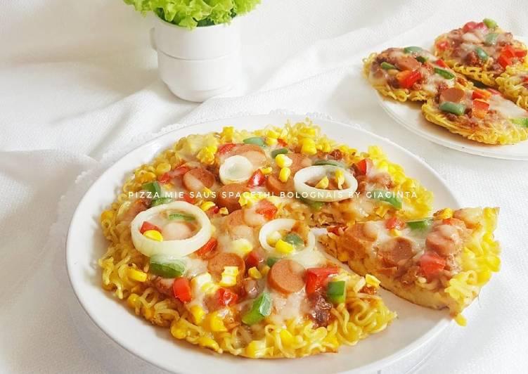 Resep Pizza Mie Saus Spagheti