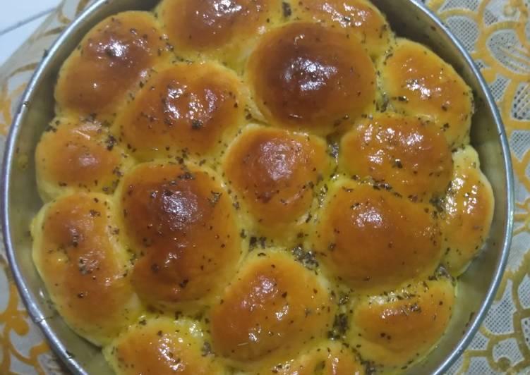 Resep Roti sobek garlic butter cheese