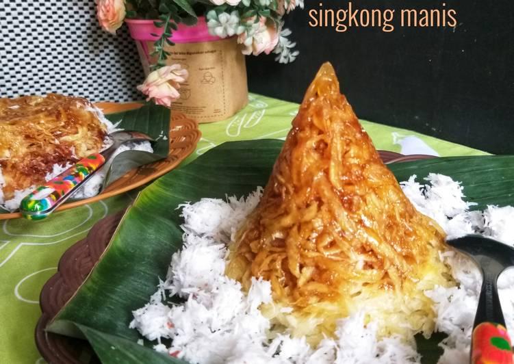 Resep 404.Sawut Singkong Manis