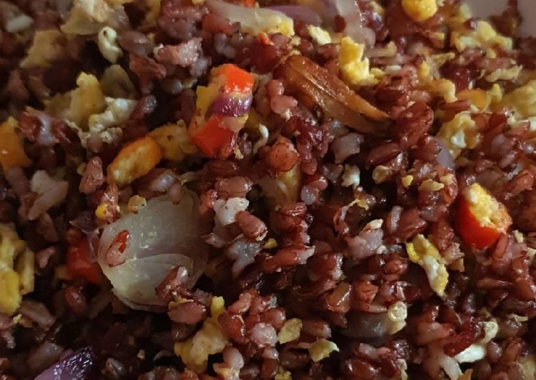 Resep Nasi merah goreng