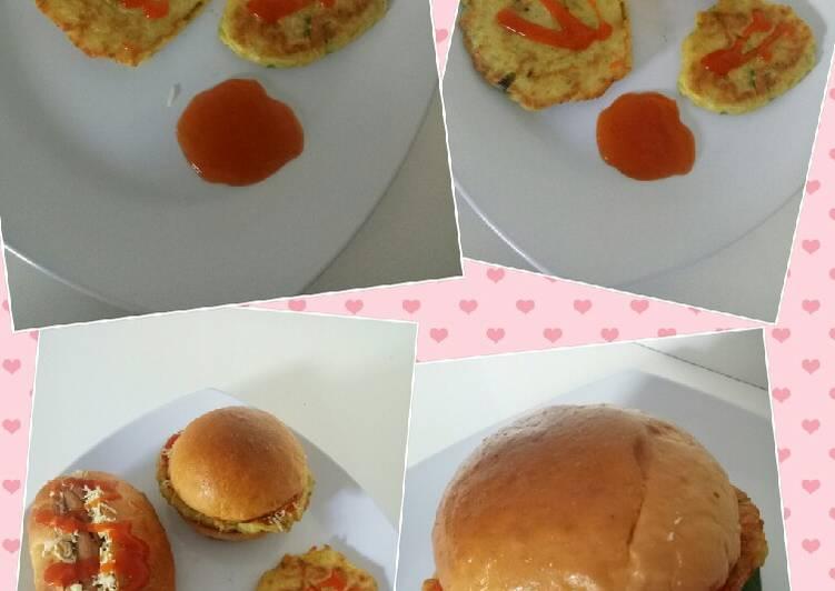 Resep Burger kentang telur