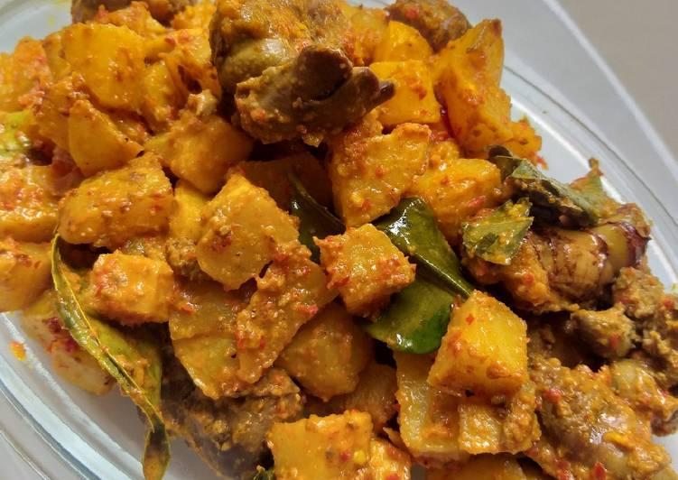 Resep Sambal goreng kentang ati ampela bumbu kare