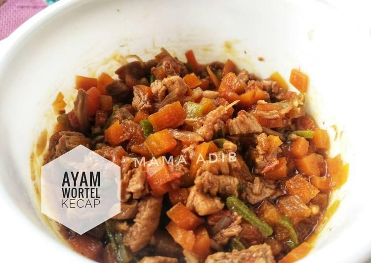 Resep Mpasi 9bulan Ayam wortel kecap
