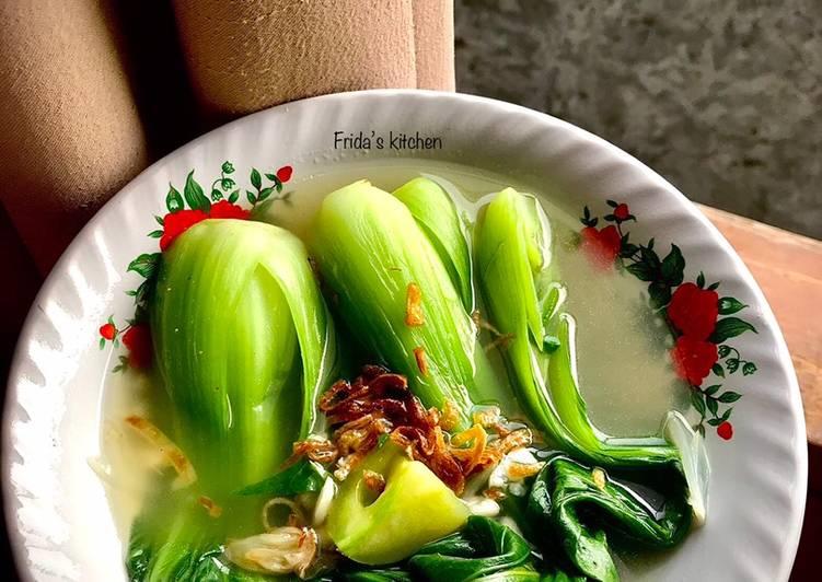 Resep Pakcoy bawang putih kuah bening
