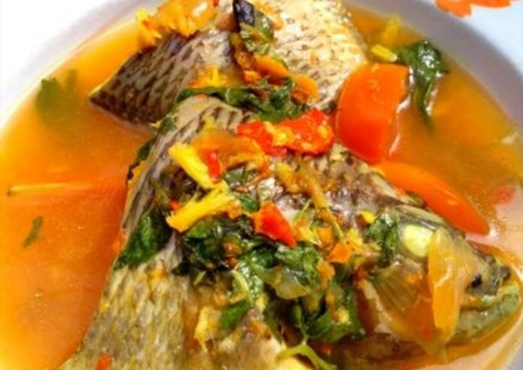 Resep Sup pedas ikan Nila