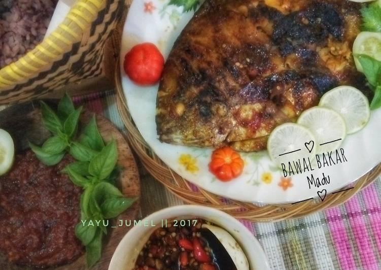 Resep Bawal Bakar Madu + duo sambal