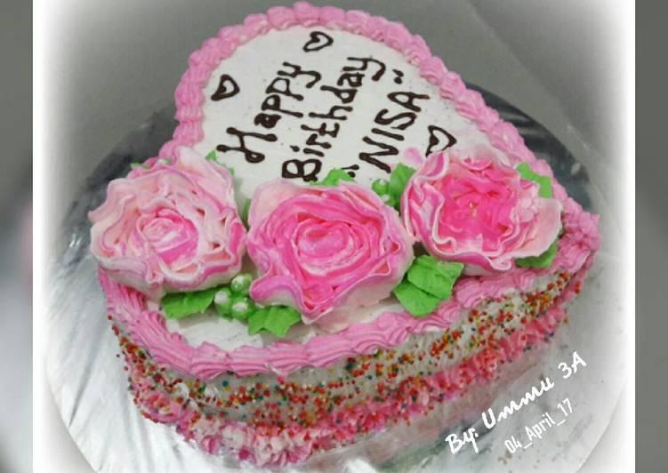 Resep Brownies cake ultah ala2