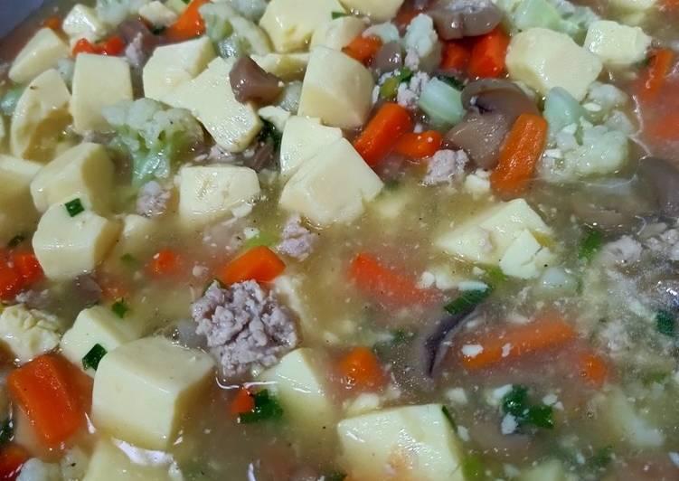 Resep Mun tahu (tofu) ayam jamur