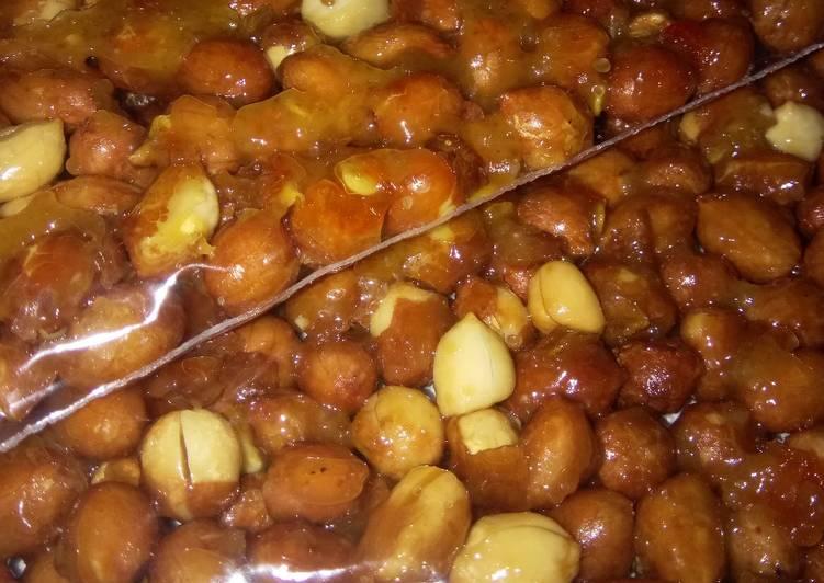 Resep Kacang caramel pedas manis