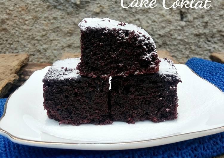 Resep Cake Coklat ala Farah Quinn (no telur, no mikser, no mentega)