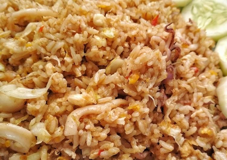 Resep Nasi goreng cumi
