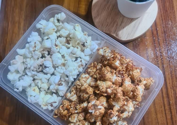 Resep Popcorn Asin dan Karamel