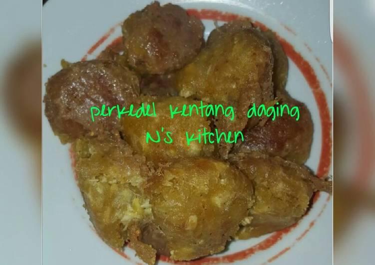Resep Perkedel kentang daging giling