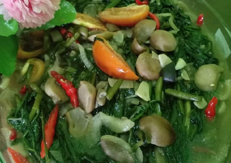 Resep Ca Kangkung Jamur Champignon
