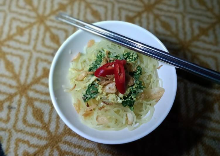 Resep Bihun masak santan