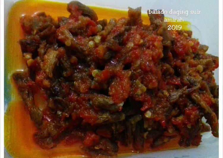 Resep Balado daging suir