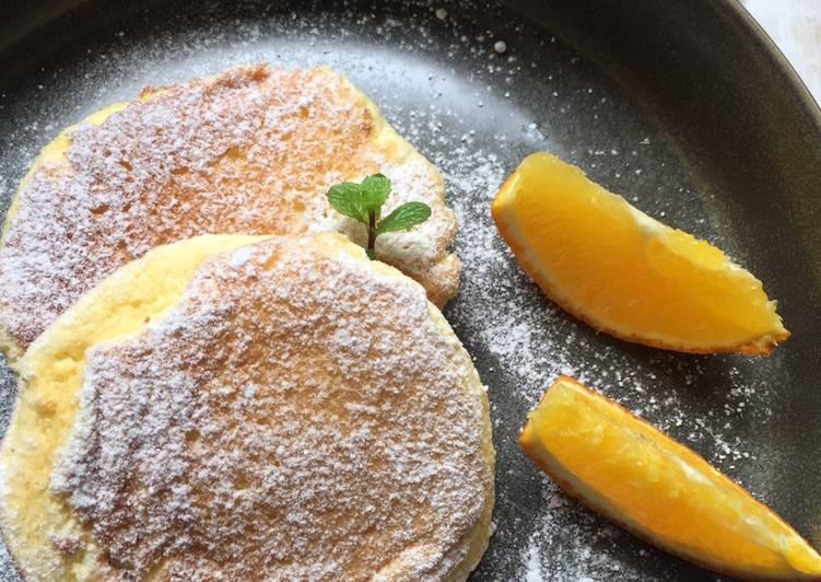 Resep Fluffy Japanese Souffle Pancakes / Pancake Jepang