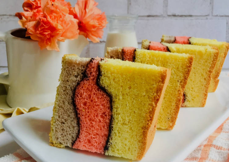 Resep Chiffon Cake Neapolitan