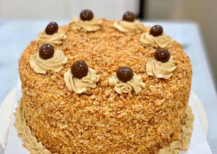Resep Mocca Nougat Cake (Birthday Cake)