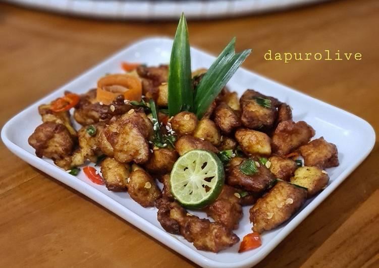 Resep Ayam Popcorn Goreng Pandan