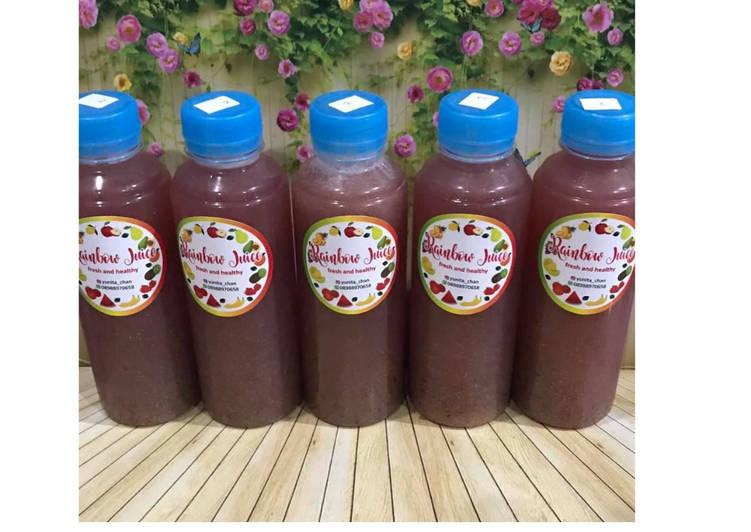Resep Diet Juice Cherry Pear Cucumber Broccoli