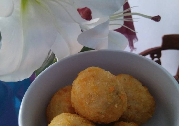 Resep Nasi kepal abon panir simple