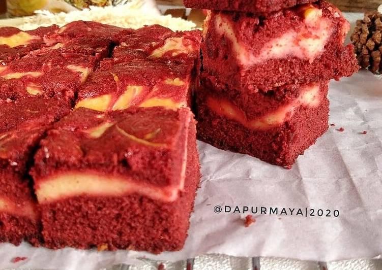 Resep Red Velvet Cream Cheese brownies