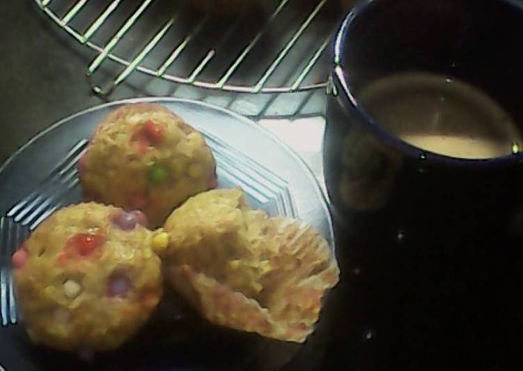 Resep banana muffin with chocochips on top