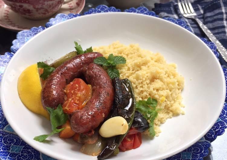 Resep Merguez with Couscous