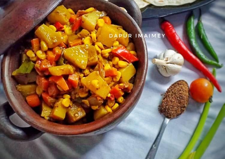 Resep Vegetable Curry (indian food)