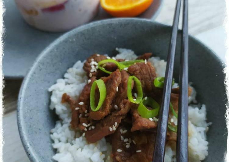 Resep Beef Bulgogi Rice Bowl